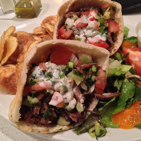 Beef And Lamb Schawarma - Cedars Mediterranean Restaurant, Chicago, IL