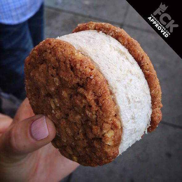 Caramel Walnut Cookie / Banana Ice Cream Sandwich @ Bi-Rite Creamery