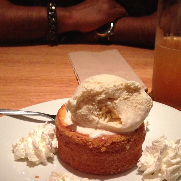 Butter Milk Cake With Vanilla Ice-Cream @ California Pizza Kitchen