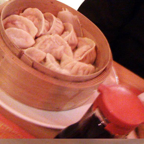 Steamed pork dumplings @ Jung's Golden Dragon Restaurant