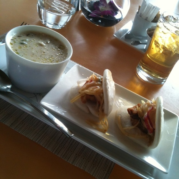 Chicken And Coconut Soup + Steamed Pork Buns