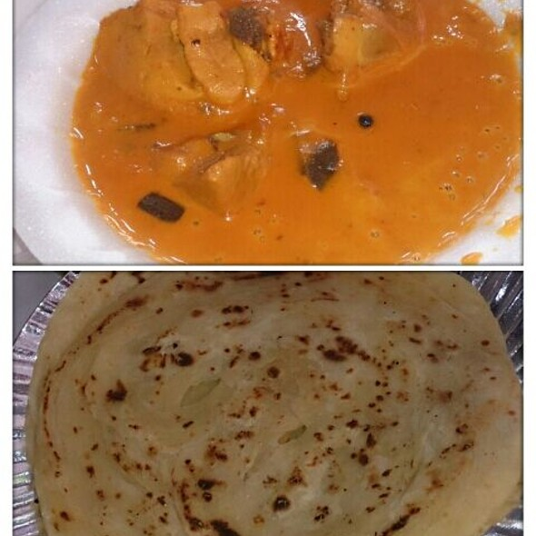 Chicken Curry And Parathas