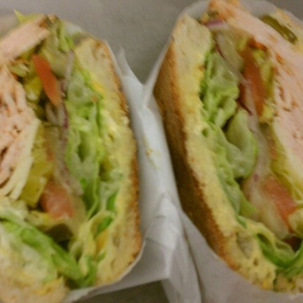Turkey Sandwich on Toasted Ciabatta Bread @ Cafe Algiers
