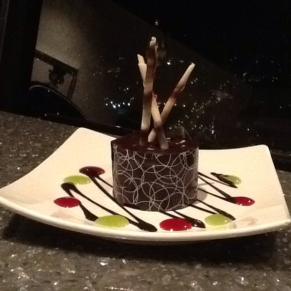 Chocolate Cake - Nick and Nino's Penthouse Steakhouse, Springfield, IL