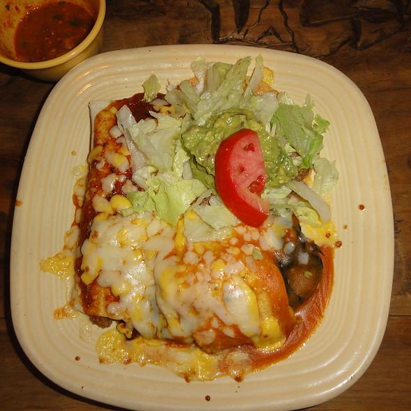 Burrito beans and rice @ Los Bandidos