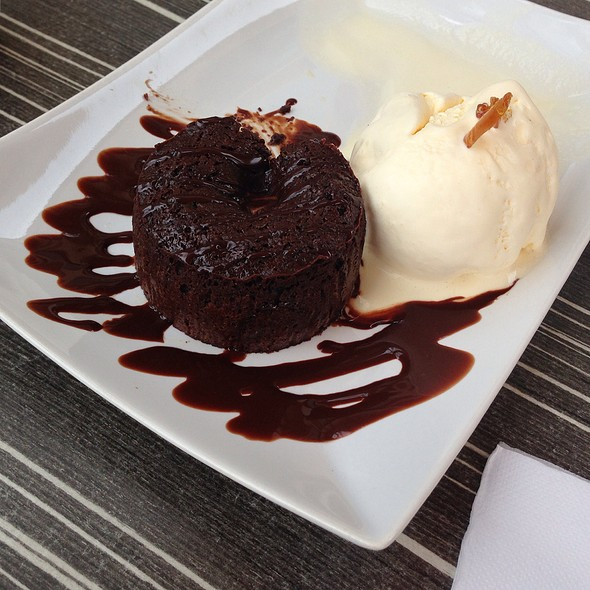 Molten Chocolate Cake @ The Butcher's Den