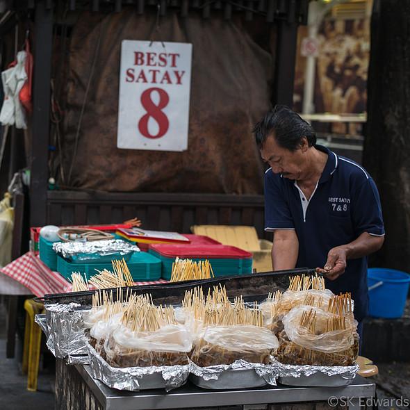 Satay master @ Lau Pa Sat Festival Market