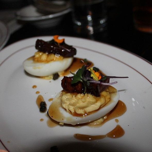Deviled Eggs W Pig Candy