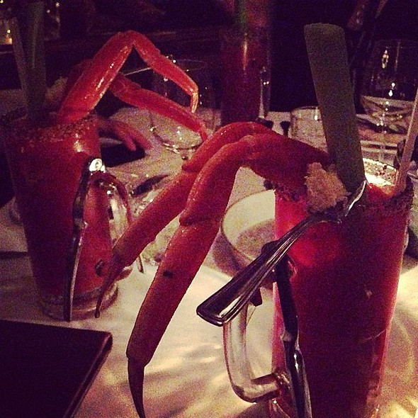 Oh just Bloody Marys with Snow Crab legs. From dinner last night at Garde Manger. éal @ Le Garde-Manger