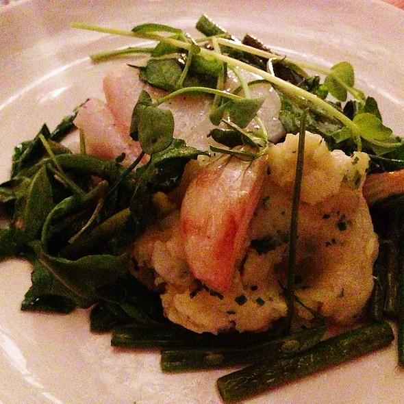 Olive Oil Poached Cod, Potato Ecrase, Haricot Verts, Spring Onions, Arugula, Agretti Beans - The Fat Radish, New York, NY