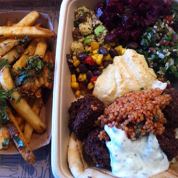 Classic Falafel Bowl And House Fries @ Falafill