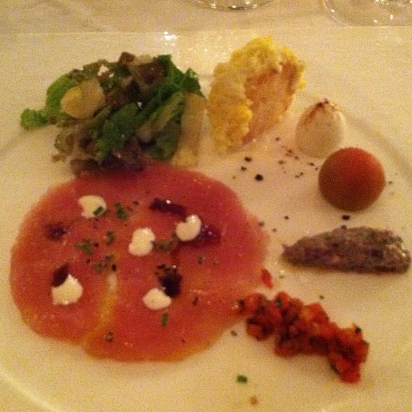 Carpaccio Of Tuna Salade Nicoise @ Champagne Room