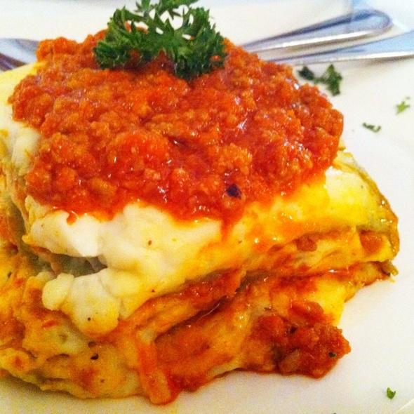 lasagna @ La Villa Restaurant
