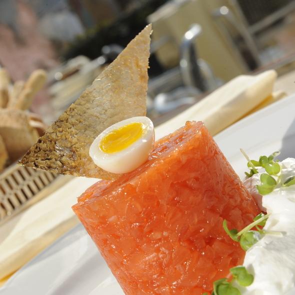 Tartare di salmone @ Grand Canal Restaurant - Venice