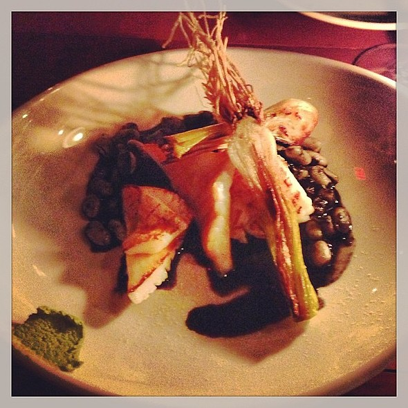 Humboldt squid cassoulet, ramps & ink. @ Wildebeest