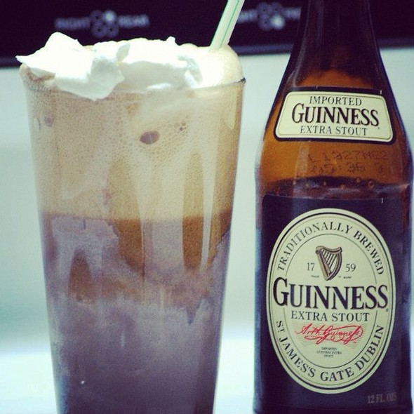 Guinness Float With Chocolate Ice Cream