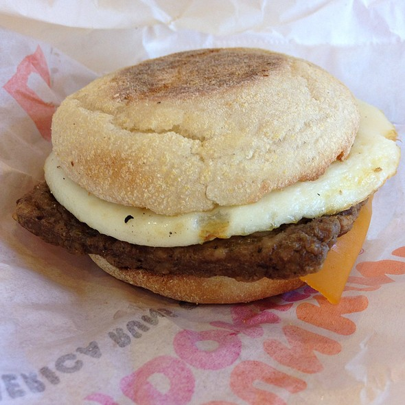 Turkey Sausage Breakfast Sandwich @ Dunkin' Donuts