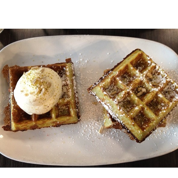 Green Tea Waffles @ Waffles