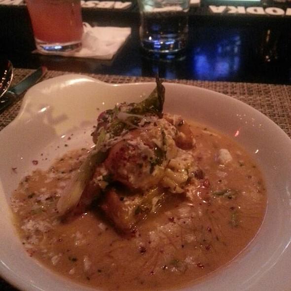 Poached Lobster over Cornbread Waffles - NOLA oyster bar, Norwalk, CT