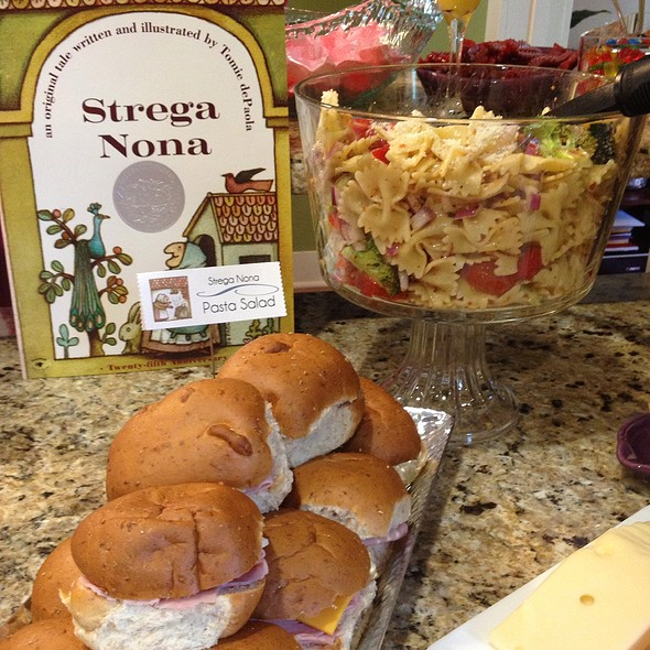 Pasta Salad & Finger Sandwiches @ My Friend's Baby Shower