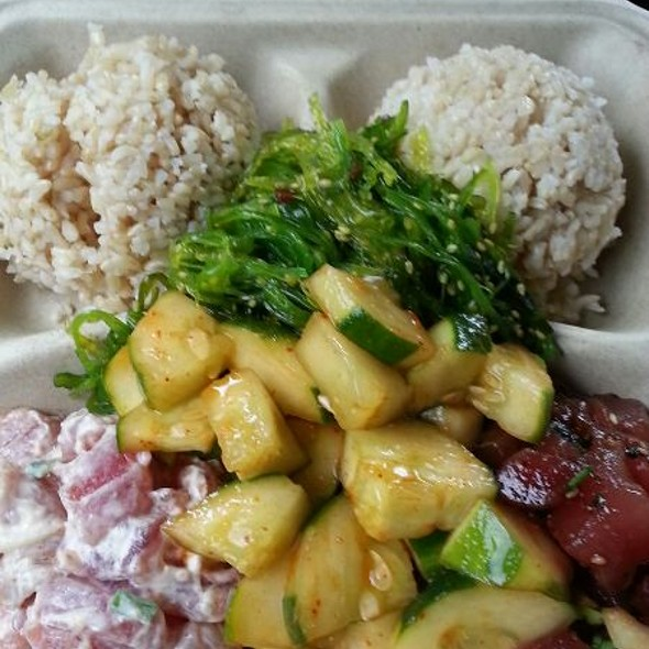 Pele's Kiss and Shack Special Poke Plate
