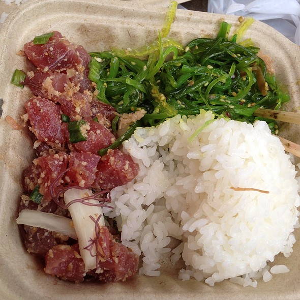 Hawaiian Poke With Seaweed Salad