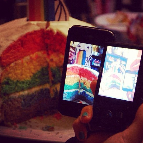 Super Freakin Awesome Rainbow Layer Cake Pics