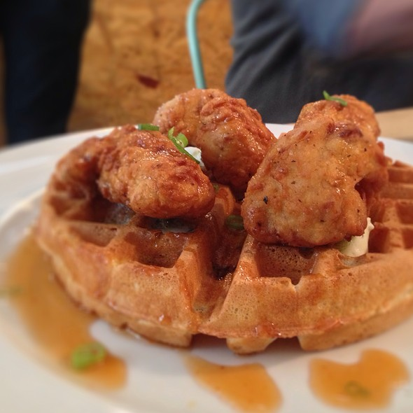 Fried Sweetbreads 'N Waffles @ The Hoof Cafe