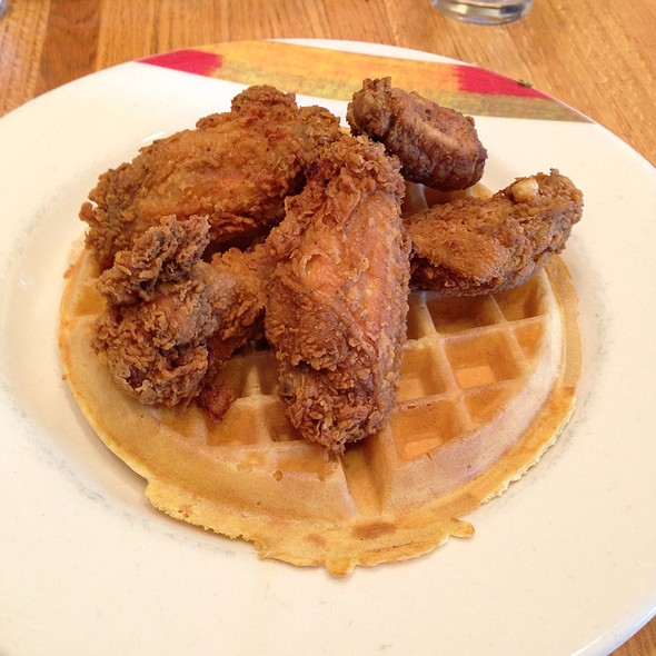 Chicken and Waffles @ The Hudson Cafe