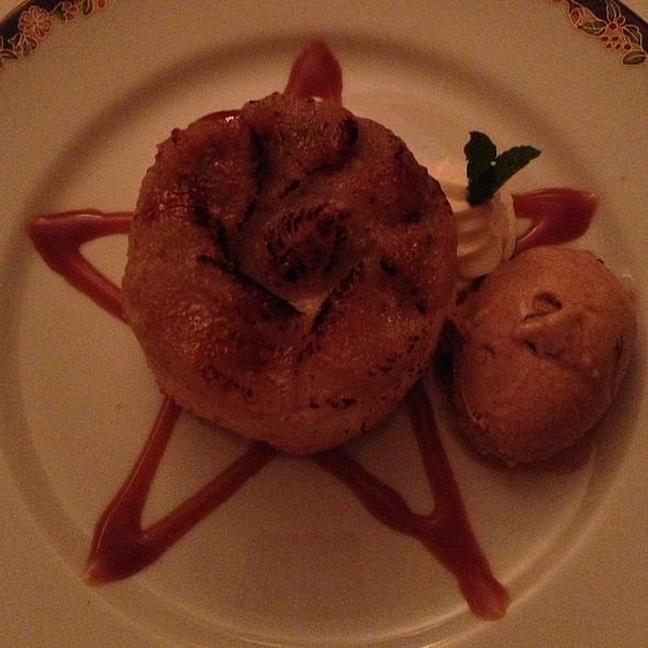 Turbinaro Sugar & Rum Sauteed Bananas Over Angel Food Cake @ L'Etoile Restaurant
