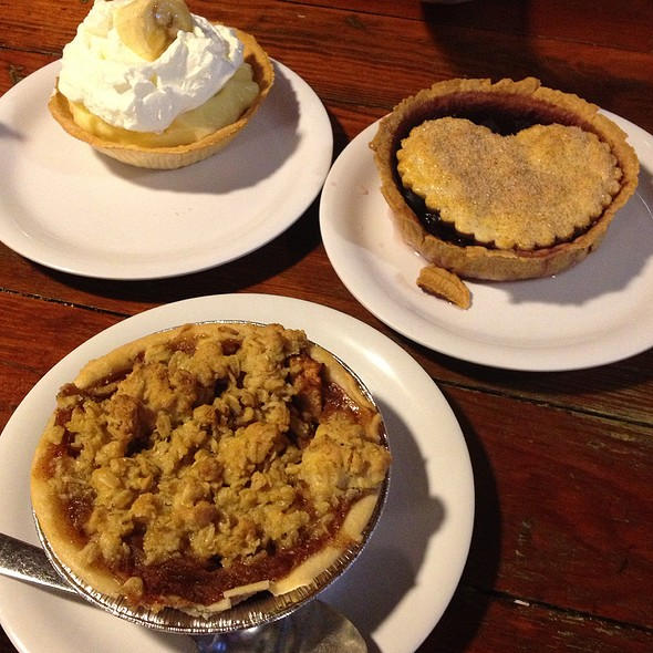 Banana Cream Pie, Blueberry Pie, Apple Pie
