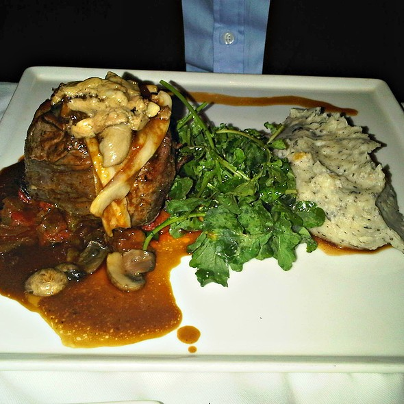 Slow Cooked Rump Of Beef With Mashed Potatoes And Vegetables  @ Brew Bistro and Lounge