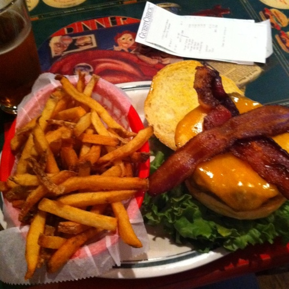 Bacon Cheeseburger With Fries @ Litton's Market and Restaurant