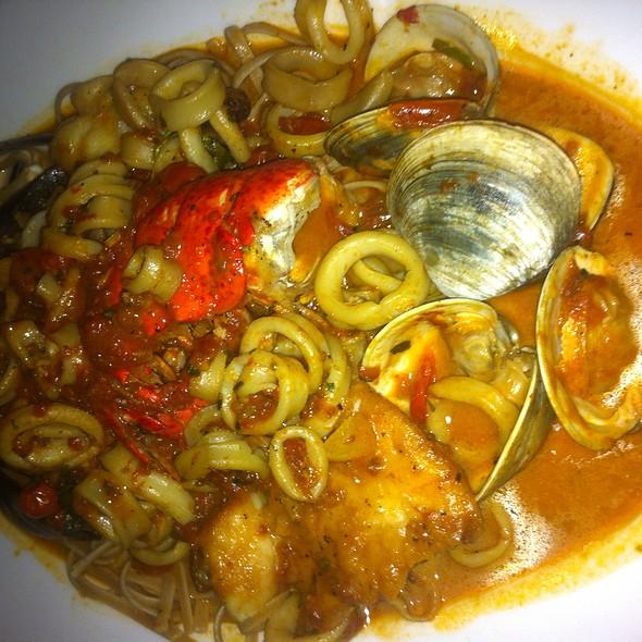 Pasta Fra Diavlo With Seafood - LuNello Restaurant, Cedar Grove, NJ