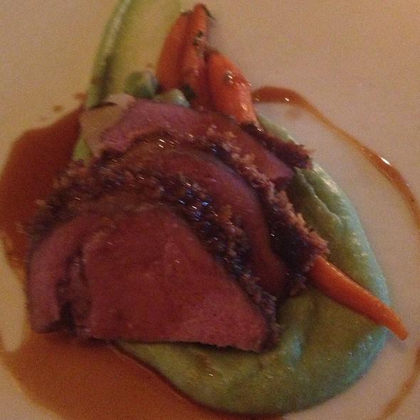 Date & Mint Crusted Lamb @ Hatfield's