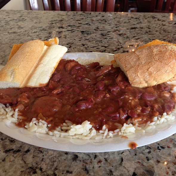 Red Beans and Rice with Andouille sausage @ Yats