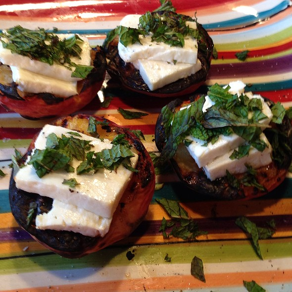Grilled Peaches With Feta And Mint @ Savitzky Trading Post