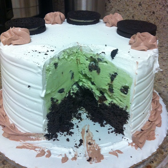 Thin Mint Ice Cream Cake