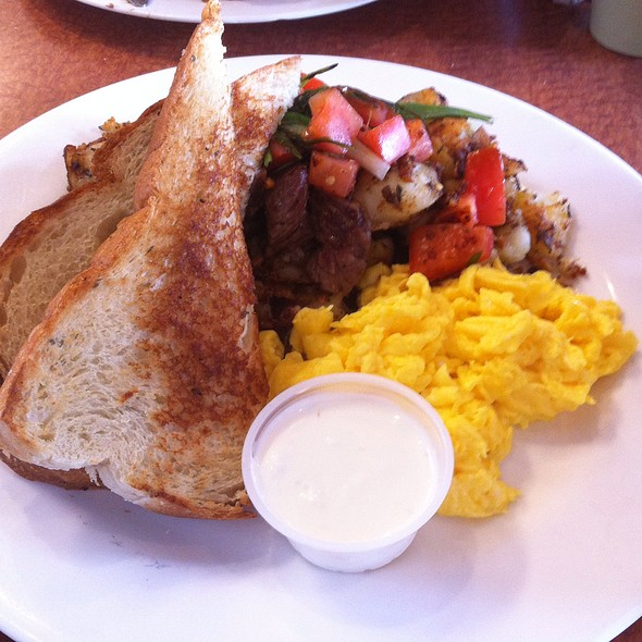 Roast Beef Hash And Eggs @ The Mission Mission Beach