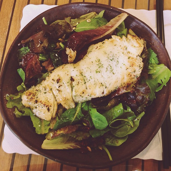 Sea Bass Over Green Salad