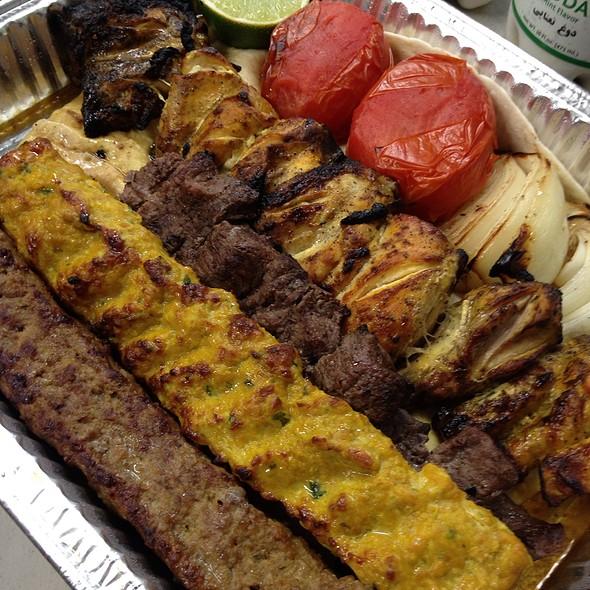 Combination Kabob Platter @ Ravagh Restaurant