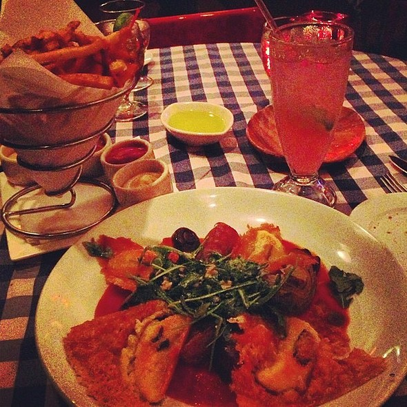 Late night : , spicy %fries, guavade. . @ Henry's