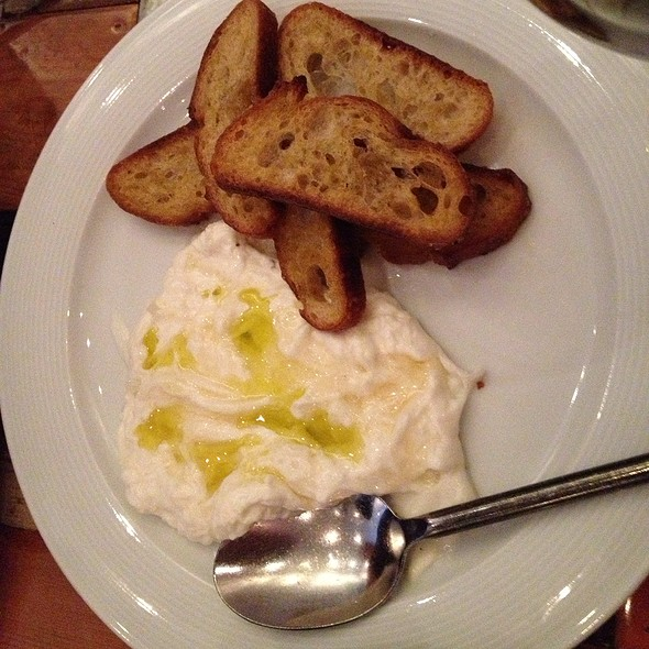 Burrata With Tuscan Honey, Sea Salt And Crostini
