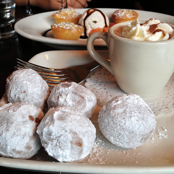 Fresh Donut Holes With Castillan Hot Cocoa