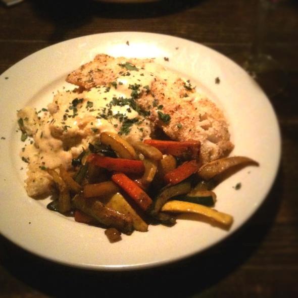 Cornmeal Encrusted Cod With Smoked Gouda Polenta @ The Legend Classic Irvington Cafe