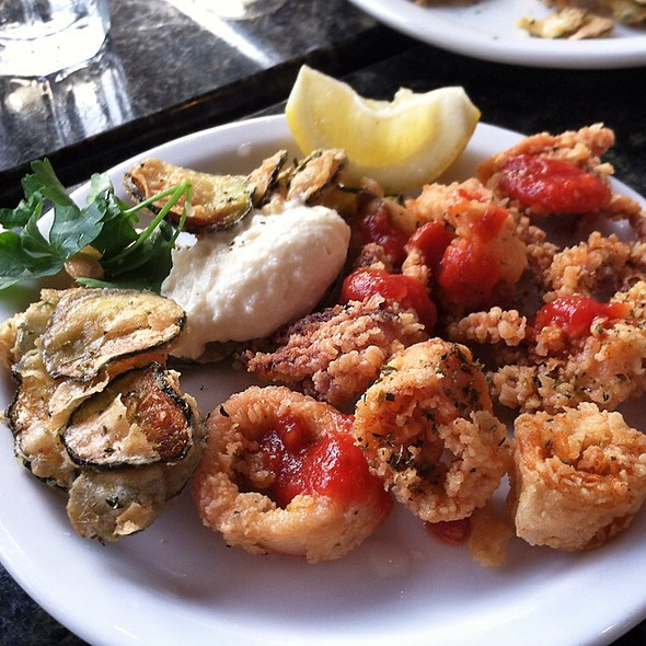 Calamari And Zucchini Chips - Avli Restaurant, Winnetka, IL