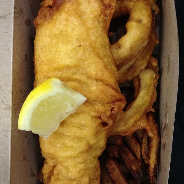 Gluten Free Mahi Mahi With Fries & Rings @ Off The Hook