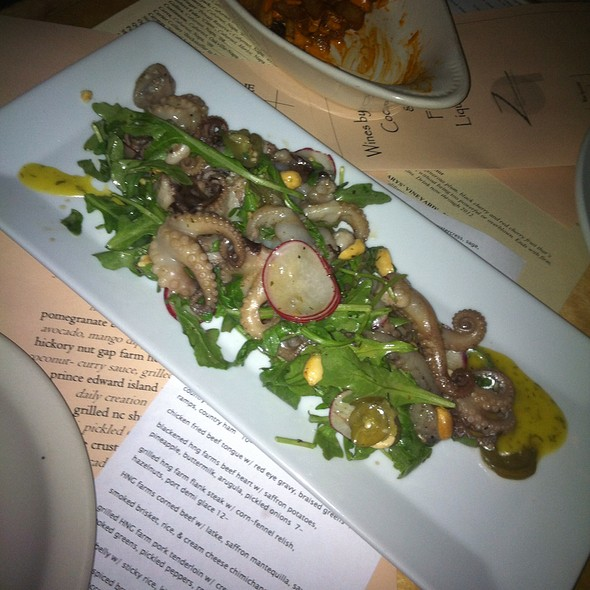 Char Grilled Baby Octopus - Zambra Restaurant, Asheville, NC