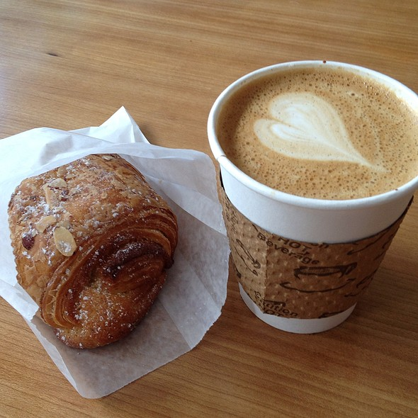 Cafe Breve And Almond Croissant @ Victrola Coffee Roasters