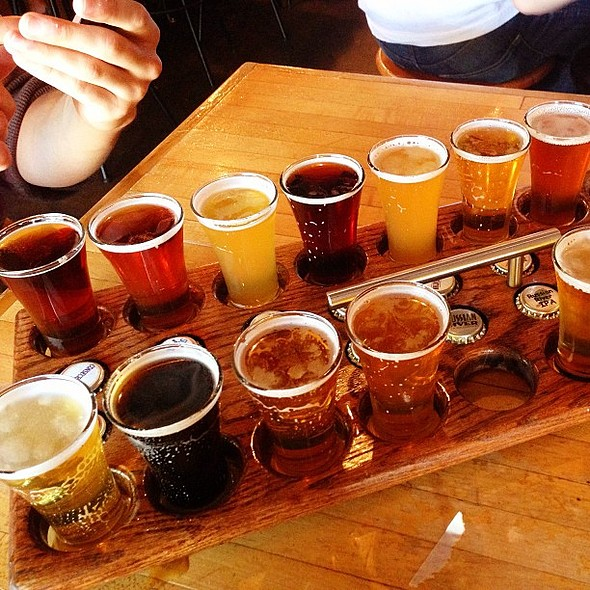 Yesterday's Beer Tasting at Russian River for the bf's birthday @ Russian River Brewing Company